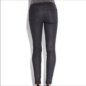 Lucky Brand Charlie Skinny Black Coated Jean 6/28